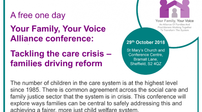 Free conference: 'Tackling the Care Crisis – Families Driving Reform'
